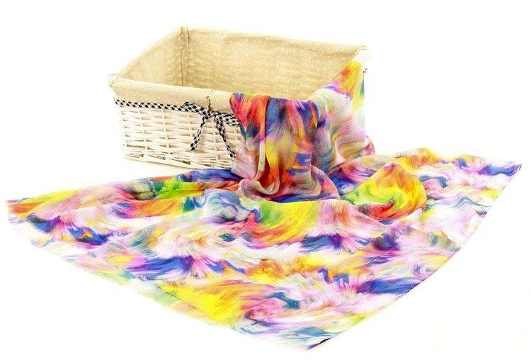 szal z bawełną